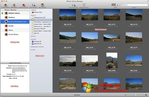 Screenshot iPhoto Windows 7