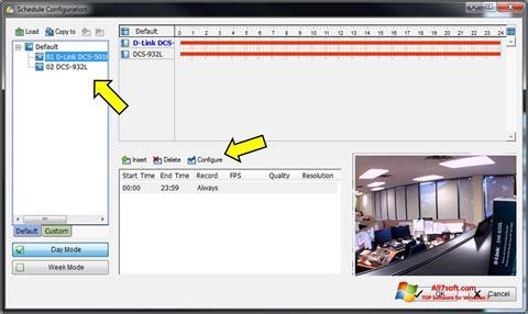 Screenshot D-ViewCam Windows 7