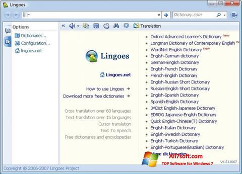Screenshot Lingoes Windows 7