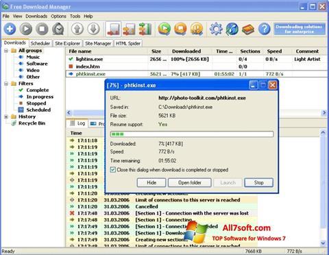 Screenshot Download Master Windows 7