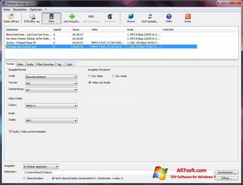 Screenshot XMedia Recode Windows 7