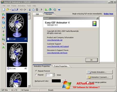 Screenshot Easy GIF Animator Windows 7