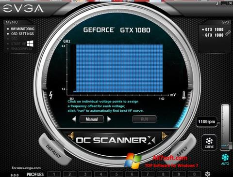Screenshot EVGA Precision Windows 7