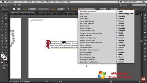 Screenshot Adobe Illustrator Windows 7