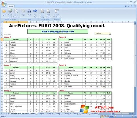Screenshot Excel Viewer Windows 7