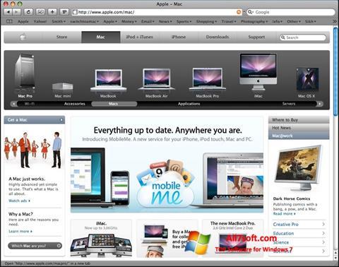 Screenshot Safari Windows 7