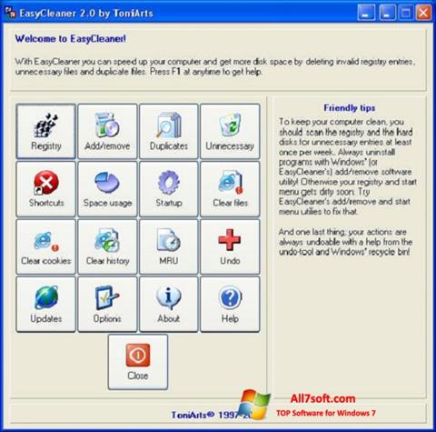 Screenshot EasyCleaner Windows 7