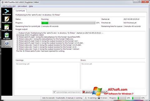Screenshot MKVToolnix Windows 7