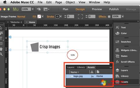 Screenshot Adobe Muse Windows 7