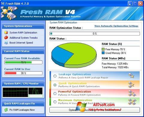Screenshot Fresh RAM Windows 7