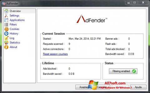 Screenshot AdFender Windows 7
