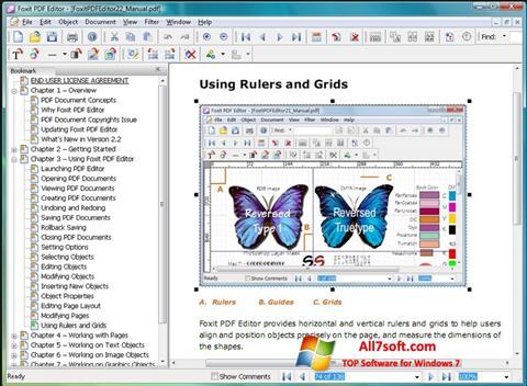 Screenshot Foxit PDF Editor Windows 7