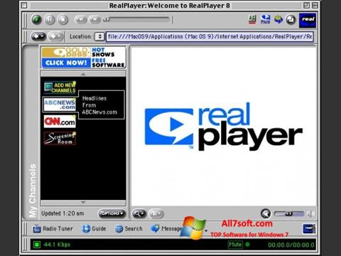 Screenshot RealPlayer Windows 7