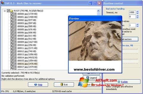 Screenshot Zero Assumption Recovery Windows 7