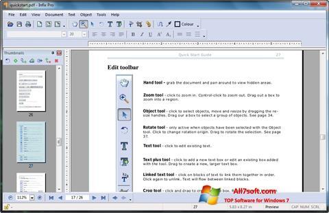 Screenshot Infix PDF Editor Windows 7