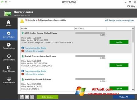 Screenshot Driver Genius Windows 7
