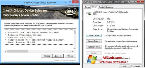 Screenshot Intel Chipset Windows 7