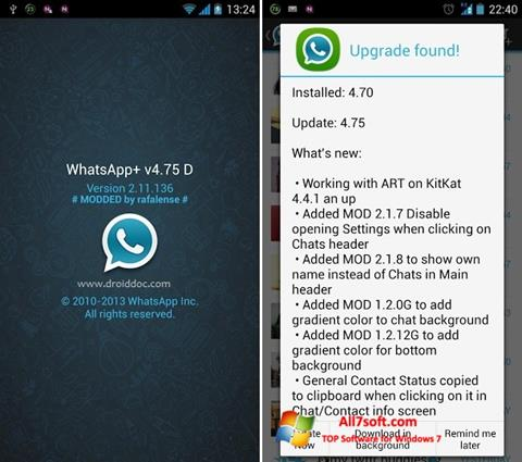 Screenshot WhatsApp Plus Windows 7