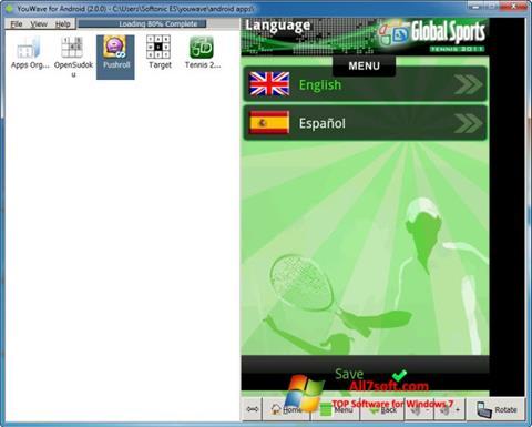 Screenshot YouWave Windows 7