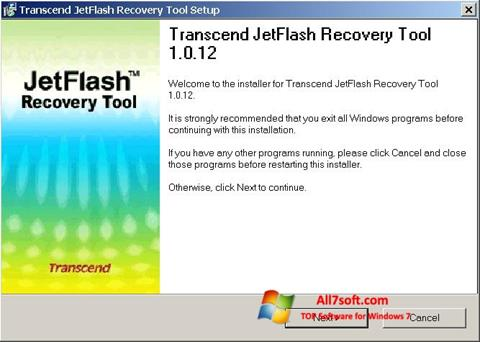 Screenshot JetFlash Recovery Tool Windows 7