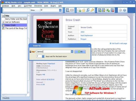 Screenshot All My Books Windows 7