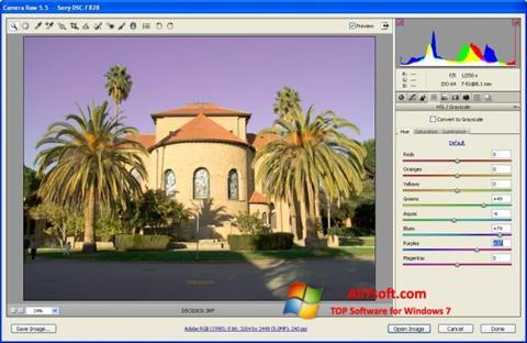 Screenshot Adobe Camera Raw Windows 7