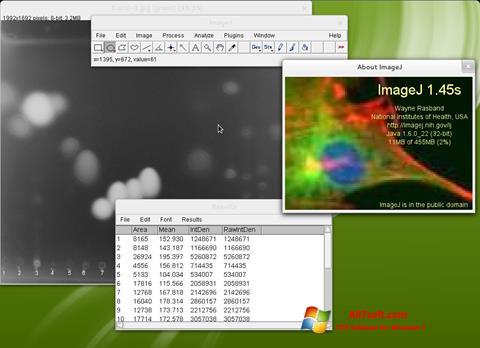 Screenshot ImageJ Windows 7