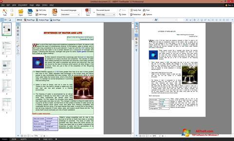 Screenshot ABBYY FineReader Windows 7