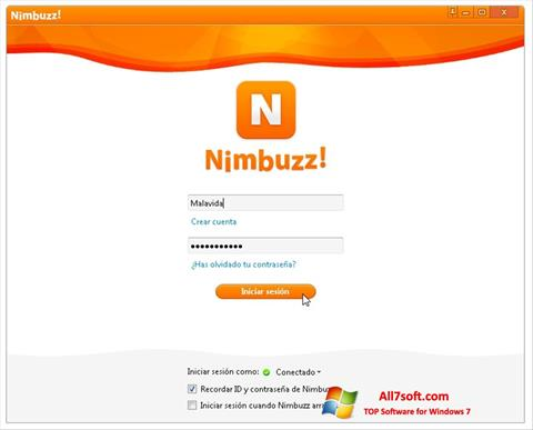 Screenshot Nimbuzz Windows 7