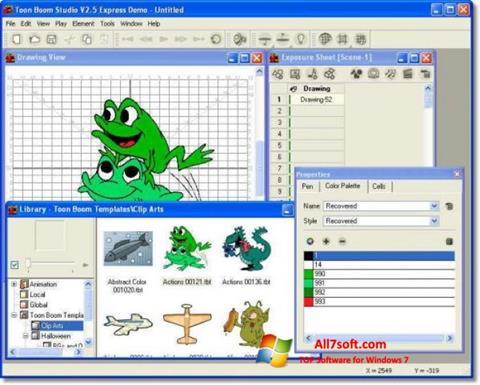 Screenshot Toon Boom Studio Windows 7