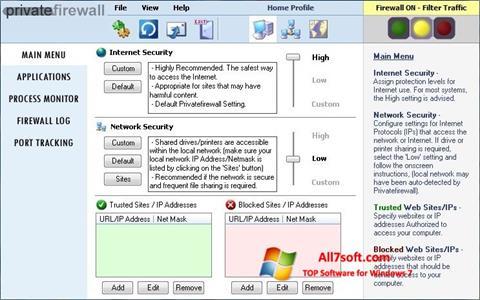 Screenshot Privatefirewall Windows 7