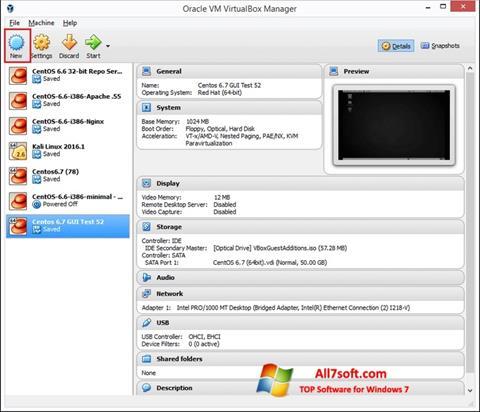 Screenshot VirtualBox Windows 7