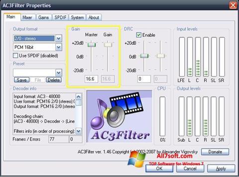 Screenshot AC3Filter Windows 7