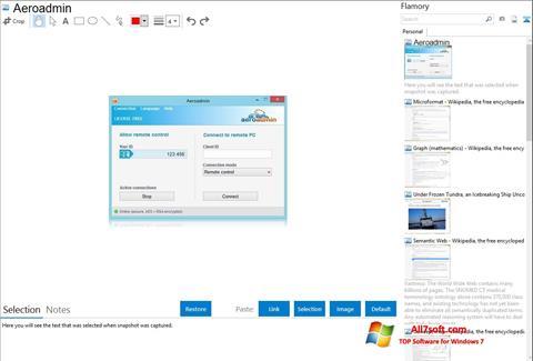 Screenshot AeroAdmin Windows 7