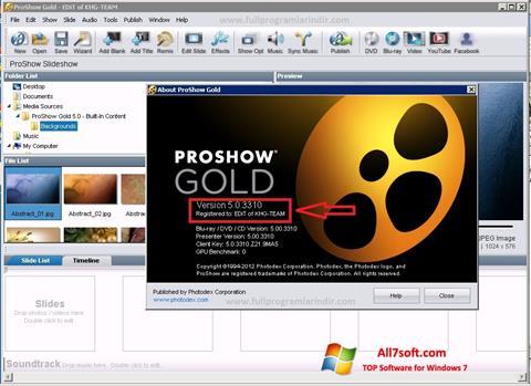 Screenshot ProShow Gold Windows 7