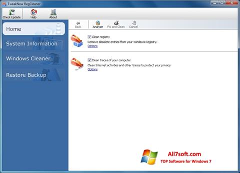 Screenshot TweakNow RegCleaner Windows 7