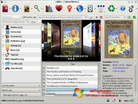 Screenshot Calibre Windows 7