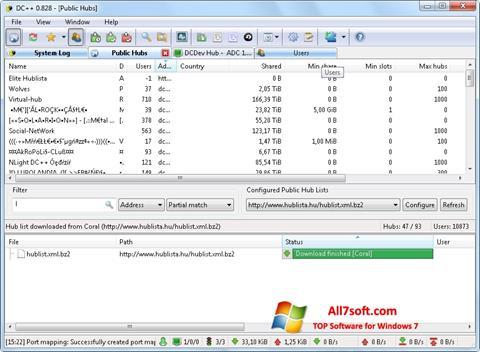 Screenshot DC++ Windows 7