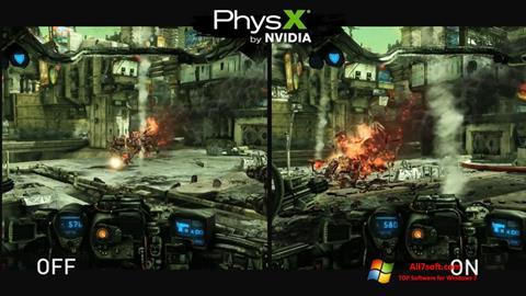 Screenshot NVIDIA PhysX Windows 7