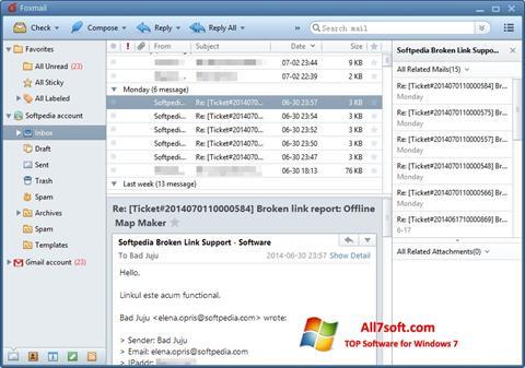 Screenshot FoxMail Windows 7