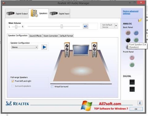 Screenshot Realtek HD Audio Windows 7