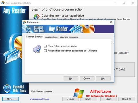 Screenshot AnyReader Windows 7