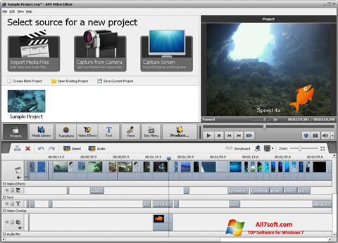 Screenshot AVS Video Editor Windows 7