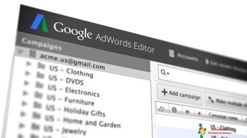 Screenshot AdWords Editor Windows 7