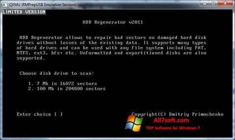Screenshot HDD Regenerator Windows 7