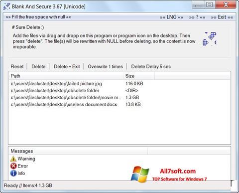 Screenshot Blank And Secure Windows 7